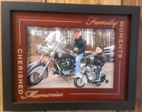Matching bikes on wall of Clarks Auto Clinic